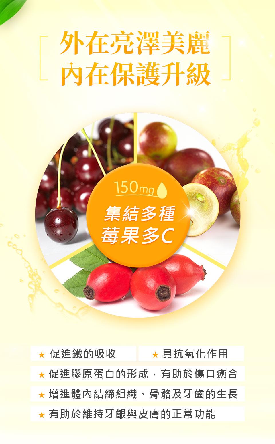 天然強化維生素C,人體好吸收
